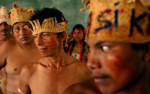 Card mayagna tribespeople