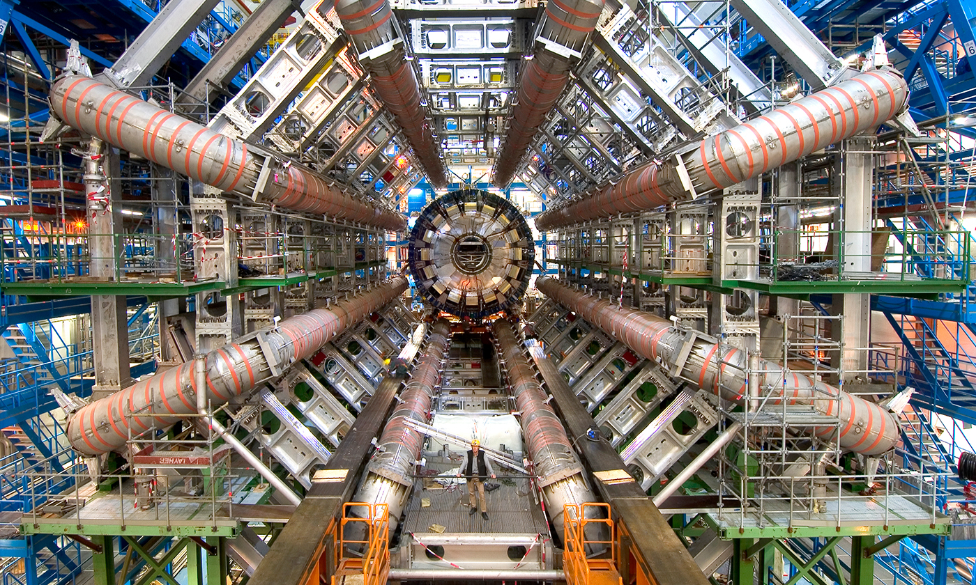 View of the Atlas general-purpose detector at CERN. <em>Photo courtey CERN</em>