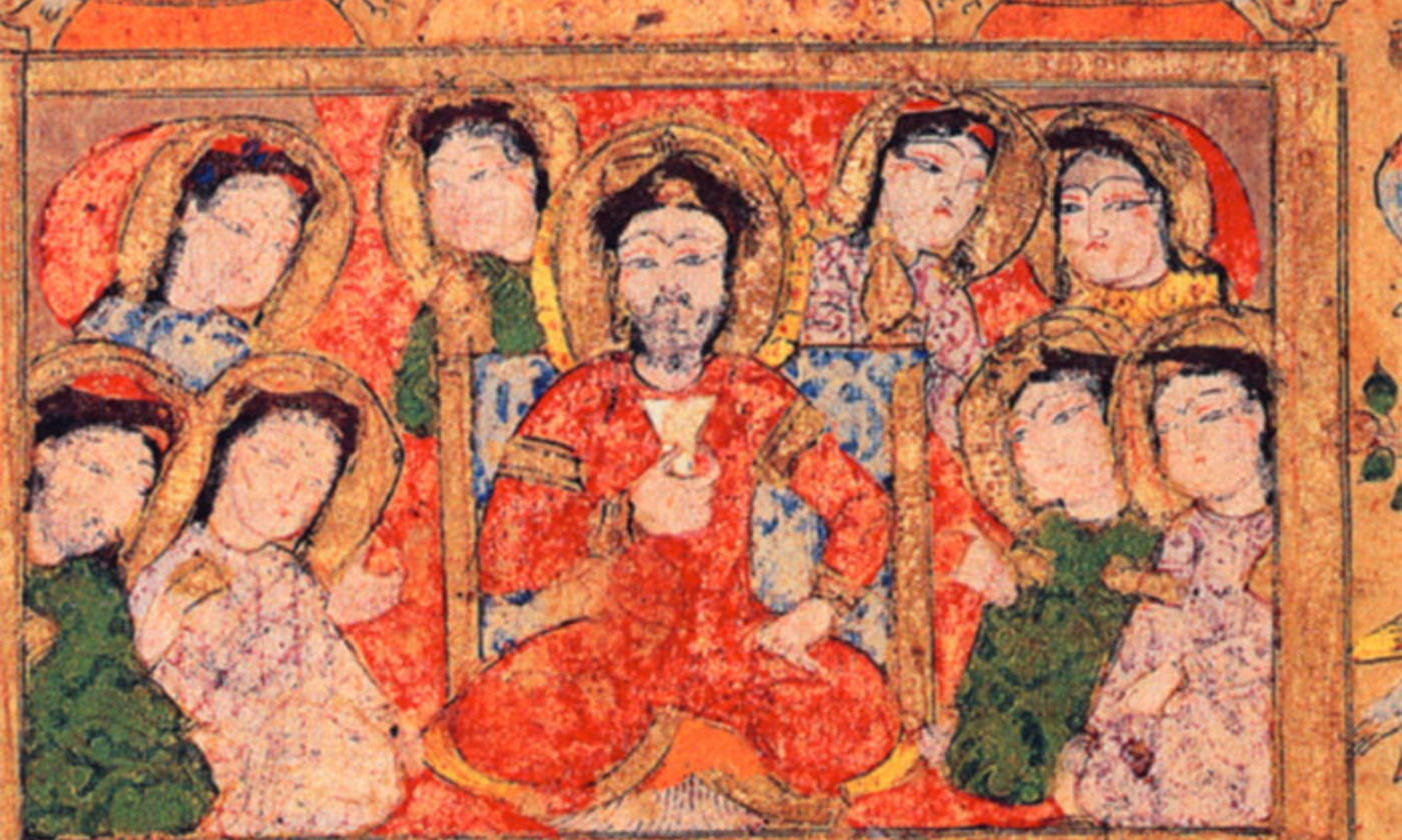 <p>From Maqāmāt al-Hariri, illustrated manuscript, 13th century. <em>Courtesy Bibliothèque Nationale, Paris</em></p>