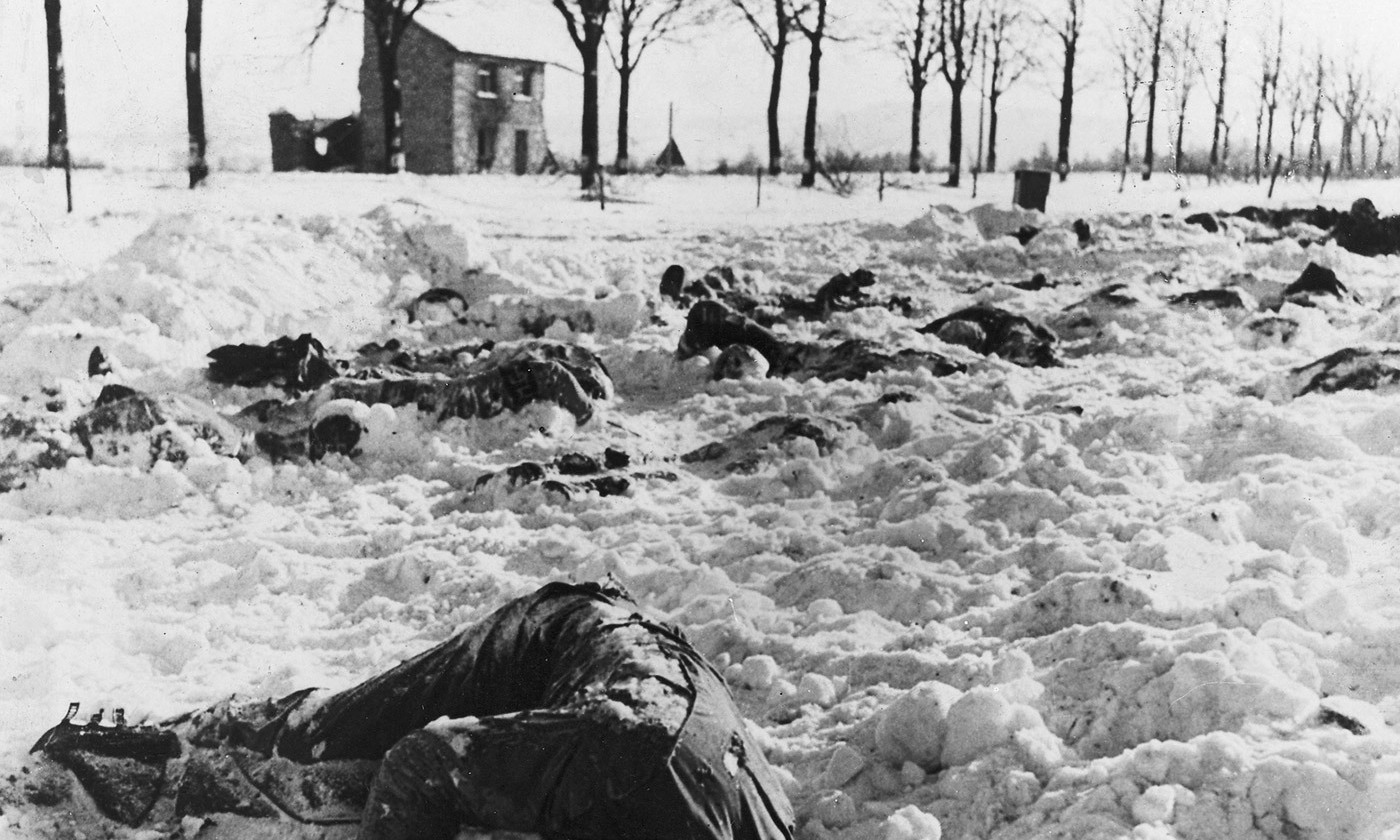 <p>American soldiers murdered by the 1st SS Panzer Division at Malmedy, 14 January 1945. <em>Photo Wikipedia</em></p>