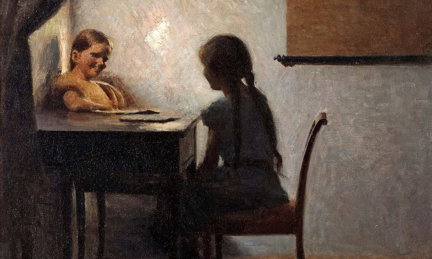 <p>Detail from <em>Interior with Two Girls</em> by Peter Ilsted, 1904. <em>Photo courtesy Flickr</em></p>