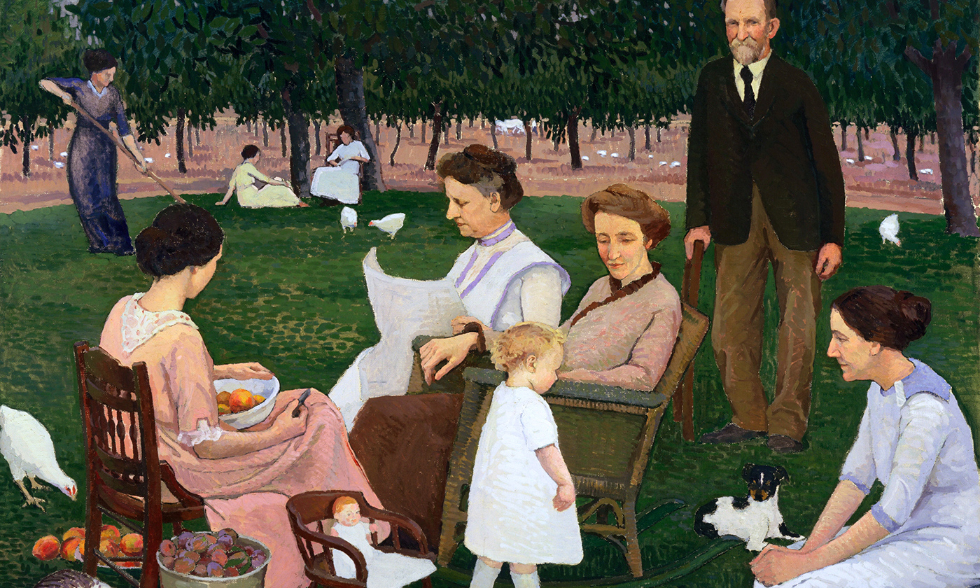 <p><em>The Orchardist and his Family</em> by Henry Varnum Poor/Freeparking/flickr</p>