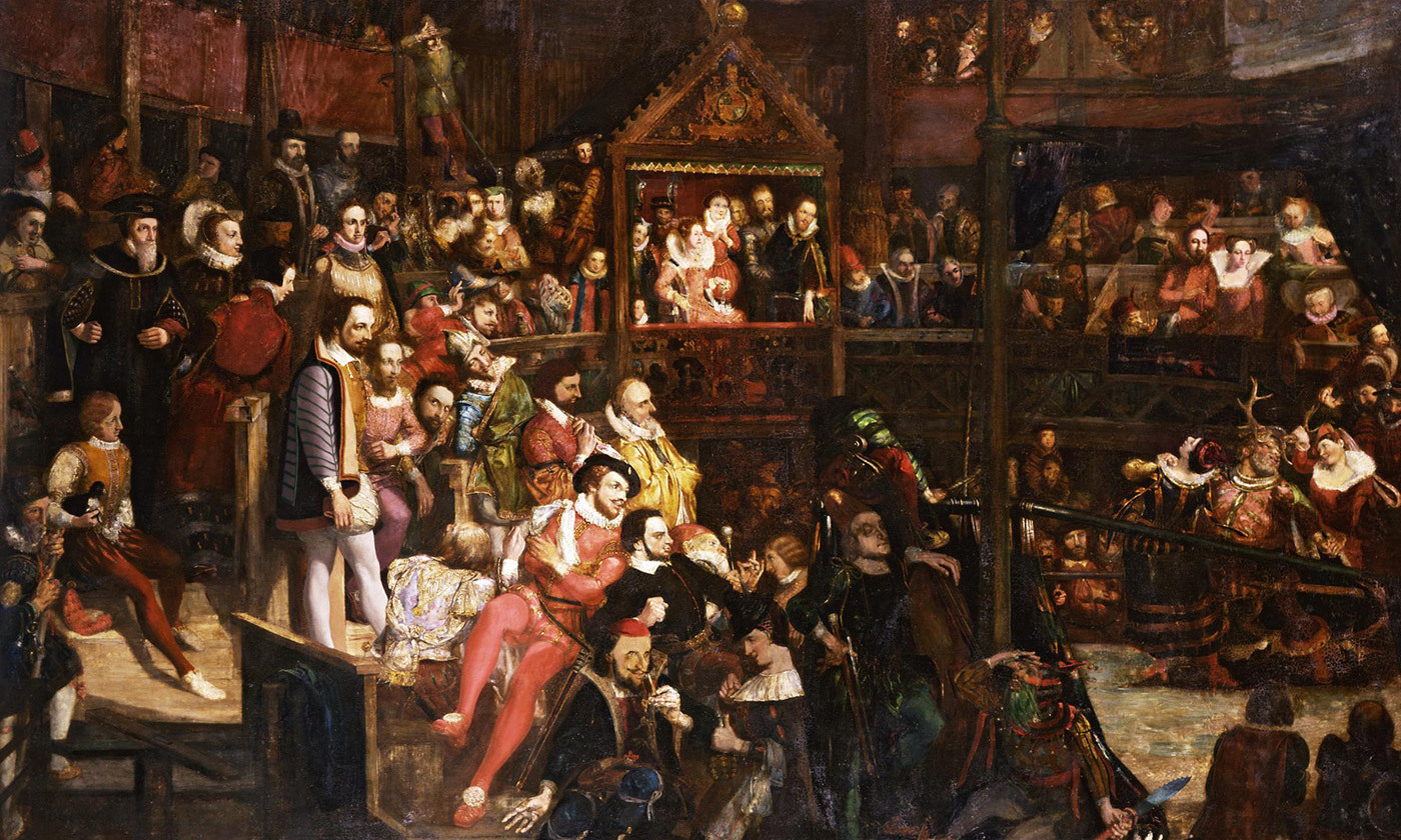 <p>White people; <em>Viewing the Performance of 'The Merry Wives of Windsor' in the Globe Theatre</em> (1840) by David Scott. <em>Photo courtesy the V&A Museum</em></p>