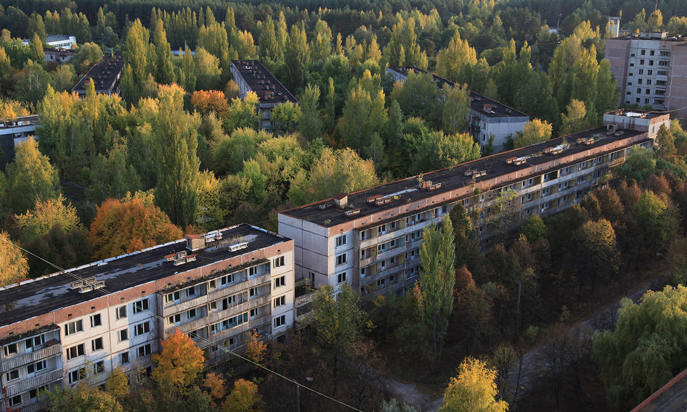 <p>Abandoned homes in Pripyat, 2km from Chernobyl. <em>Photo by Dana Sacchetti/IAEA Imagebank</em></p>