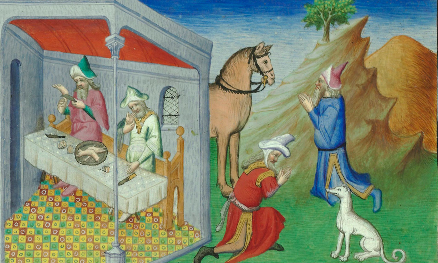 From 'Le Livre des merveilles de Marco Polo'. <em>Courtesy Biblioteque Nationale, Paris</em>