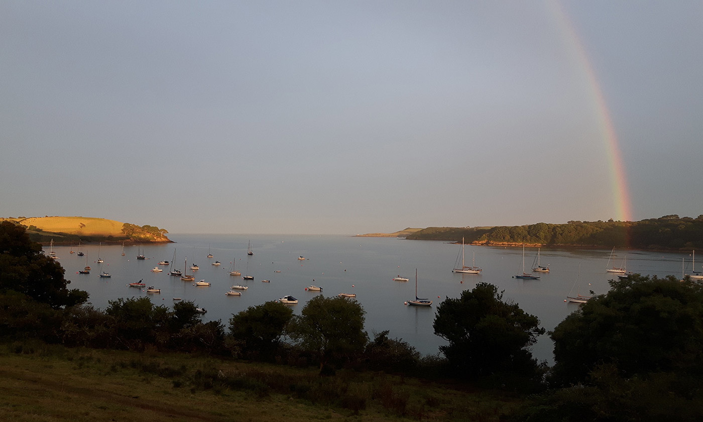 Rainbow over the Helford estuary, Cornwall, England. <em>All photos courtesy Susanna Butterworth</em>