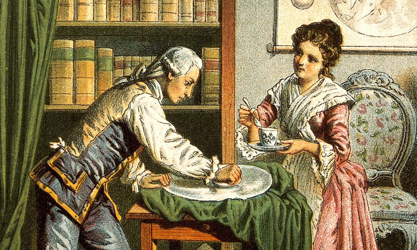 Unequal partners; William and Caroline Herschel. <em>Wellcome images/Wikipedia<em>