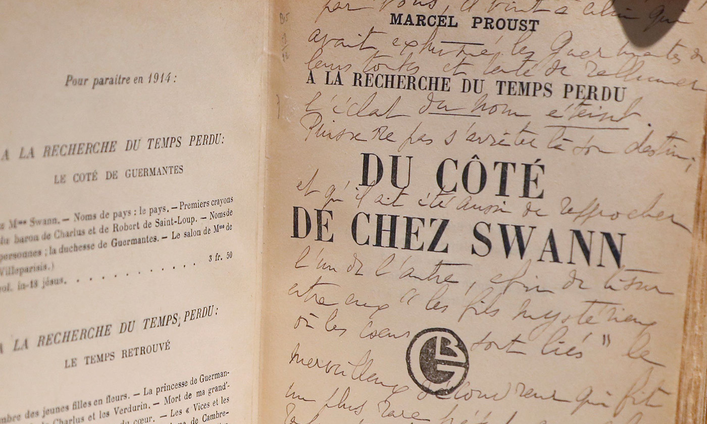 <p>The subtleties; an orginal edition of Swann's Way from the personal archives of Marcel Proust. <em>Photo by Getty</em></p>