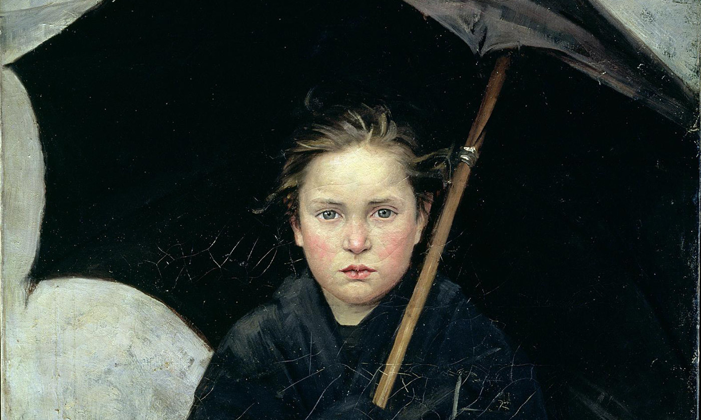 <p>If I believe it is raining outside… <em>The Umbrella</em> (1883) by Marie Bashkirtseff. <em>Courtesy the State Russian Museum/Wikipedia</em></p>