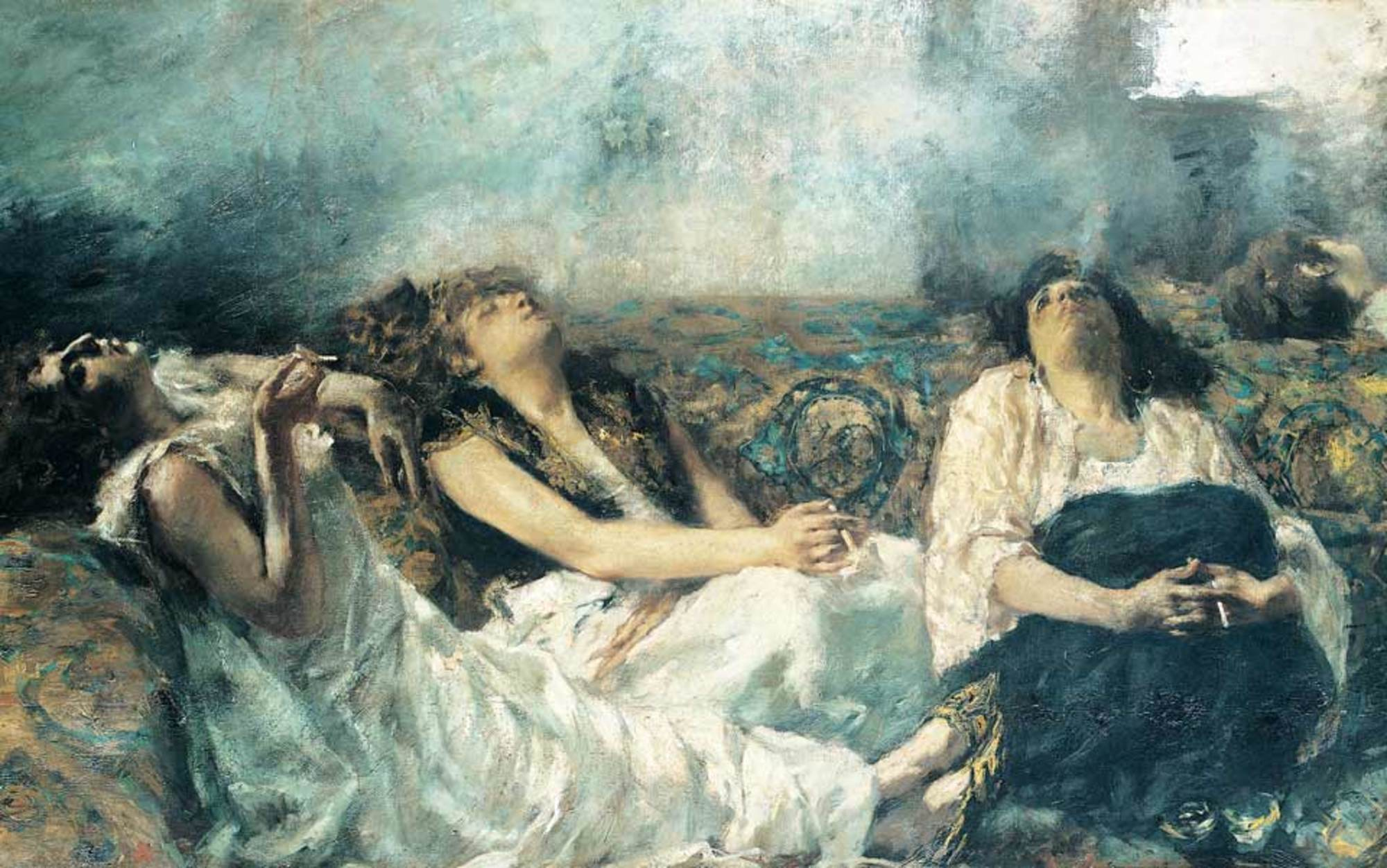 Header hashish smokers by gaetano previati