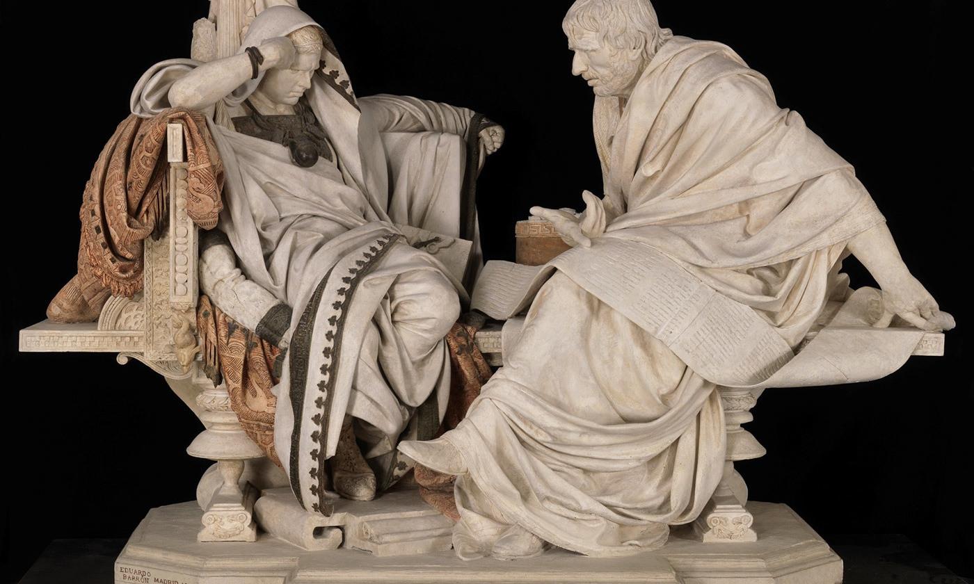 <p><em>Nero and Seneca</em> (1904), by Eduardo Barrón Gonzáles. <em>Photo courtesy Museo Nacional del Prado, Madrid</em></p>