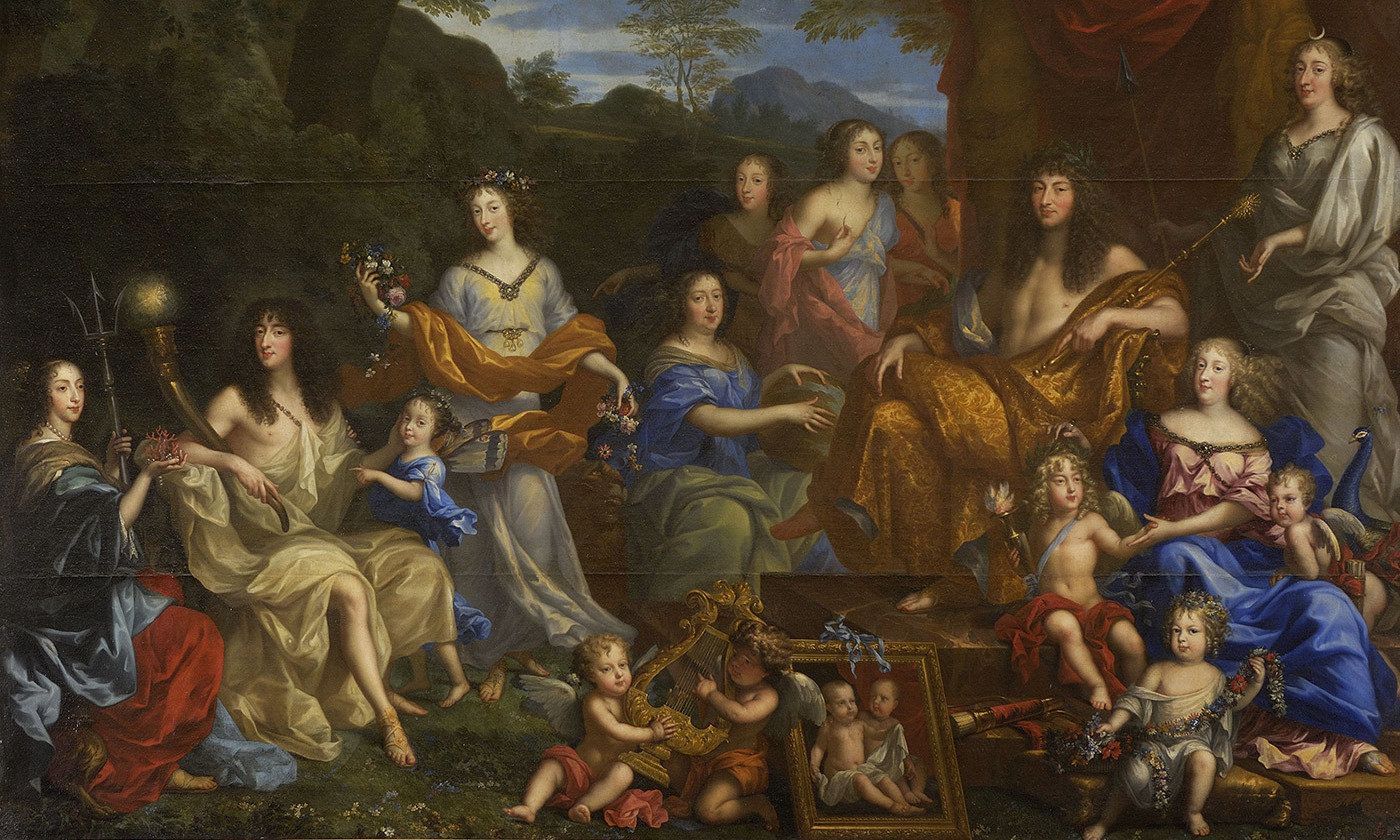 <p>You've got her eyes; <em>Louis XIV and the Royal Family</em> (1670), by Jean Nocret. <em>Courtesy Palace of Versailles/Wikimedia</em></p>