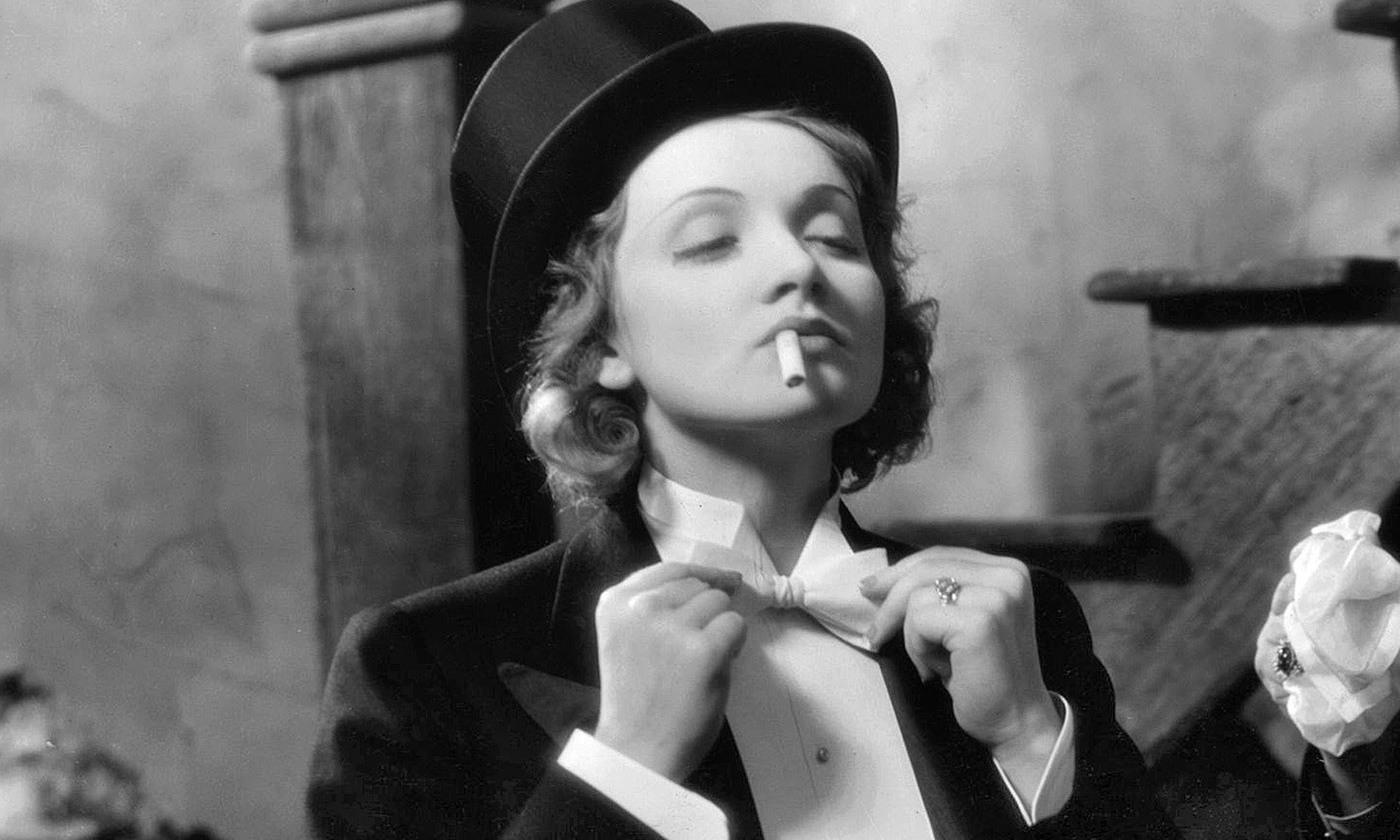 Marlene Dietrich on the set of <em>Morocco</em> (1930). <em>Photo courtesy Paramount Pictures</em>