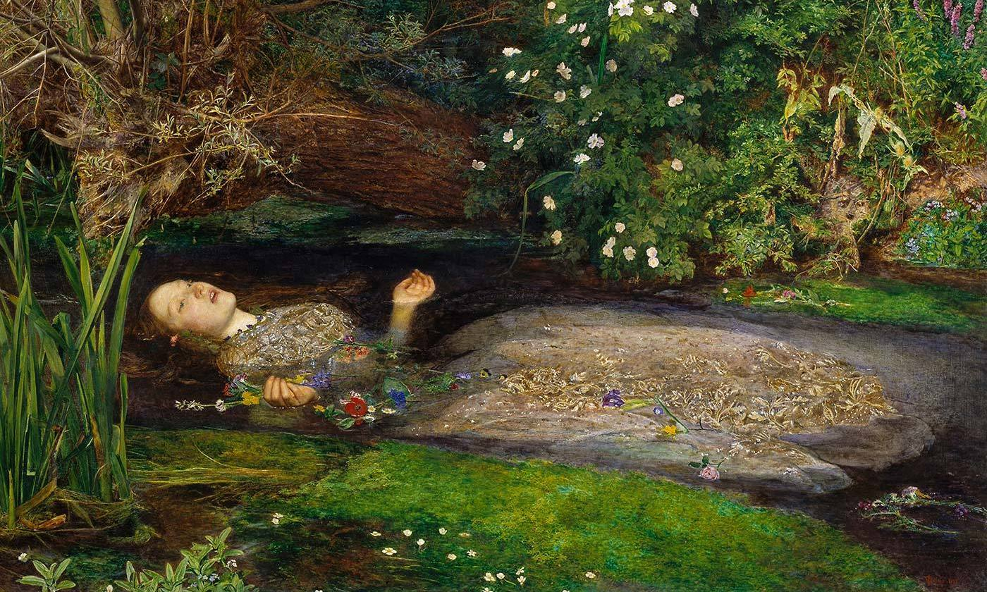 Detail from <em>Ophelia</em> 1851-2 by Sir John Everett Millais. Photo Courtesy Tate/Wikipedia</em>
