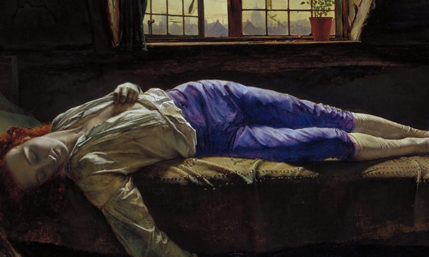 <p>Detail from <em>The Death of Chatterton</em> by Henry Wallis/Wikimedia</p>