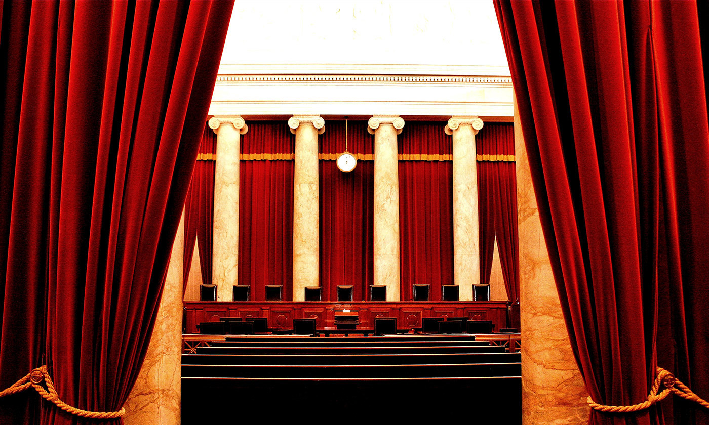 <p>Inside the Supreme Court. <em>Photo courtesy Wikimedia</em></p>