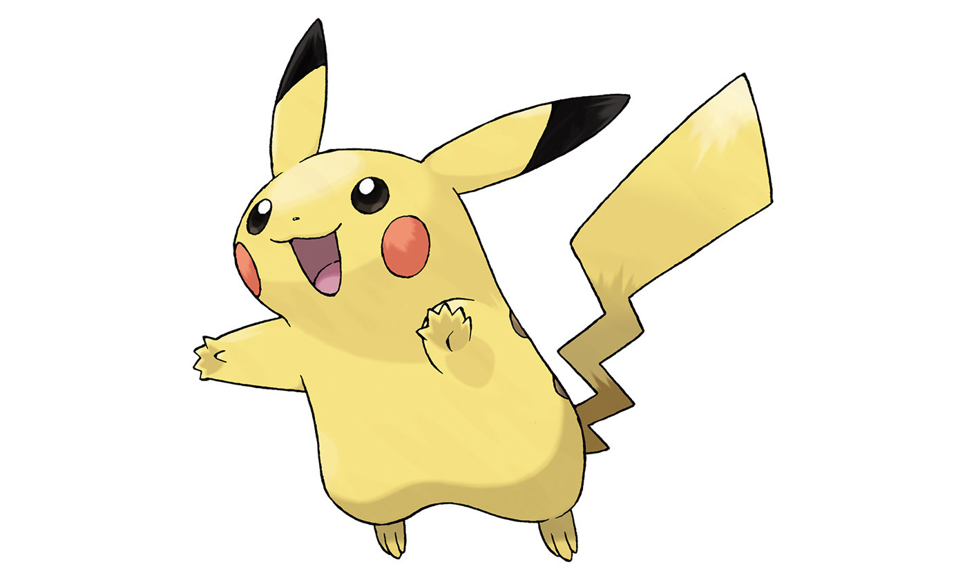 Pikachu. Original art by Ken Sugimori. <em>Courtesy Wikipedia</em>