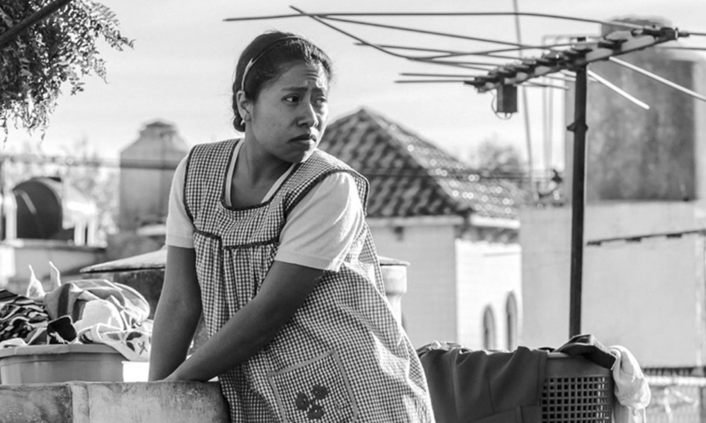 <p>Non-professional actor Yalitza Aparicio's performance as Cleo in Alfonso Cuarón's <em>Roma</em> (2018) earned her an Academy Award nomination. <em>Photo courtesy of Netflix</em></p>