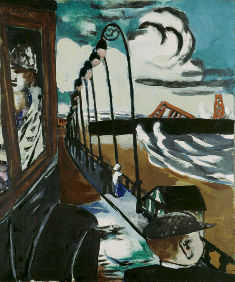 Strandpromenade in Scheveningen by the German artist Max Beckmann