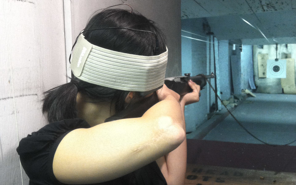 Mary Choi at shooting range